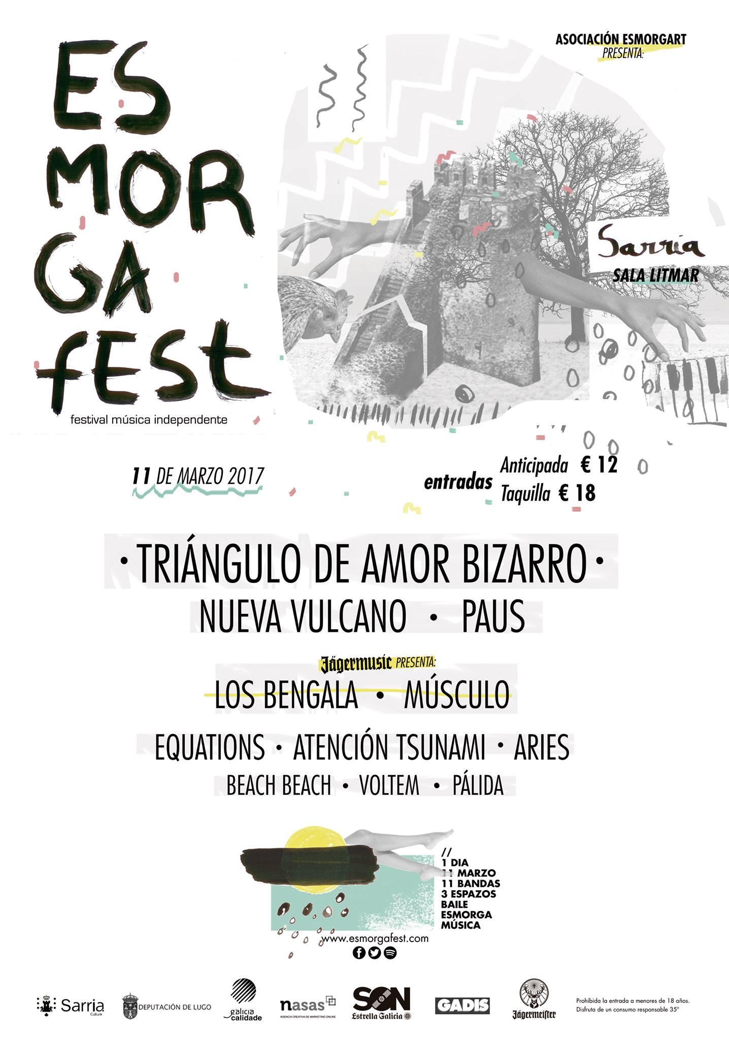 Esmorga Fest 2017 cartel definitivo