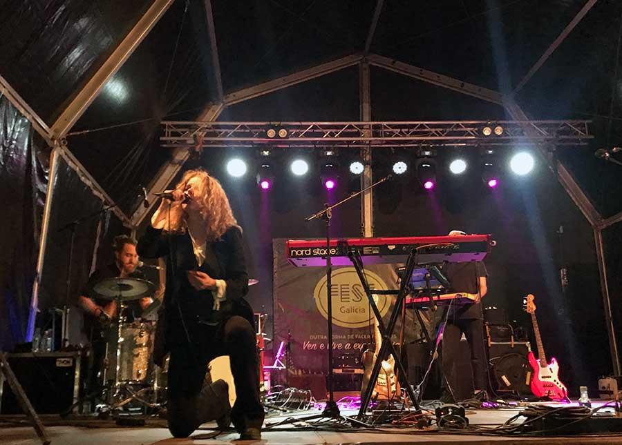 Christina Rosenvinge, durante su actuación en el Atlantic Fest.