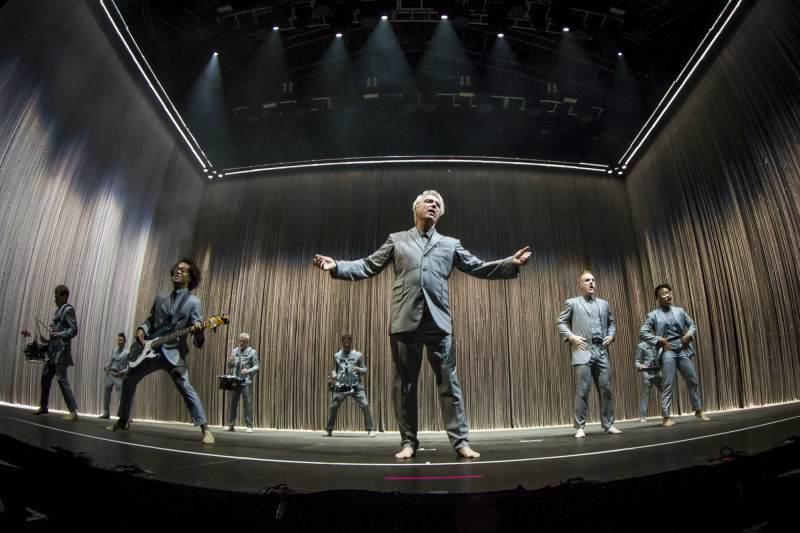 David Byrne durante su concierto. / Tom Hagen